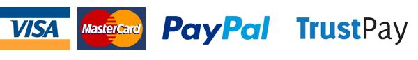 Visa, MasterCard, PayPal, TrustPay
