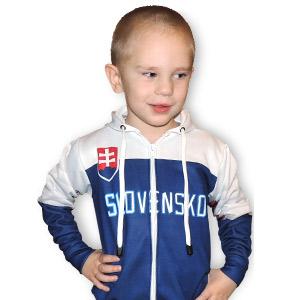 Slovakia detská mikina modro-biela